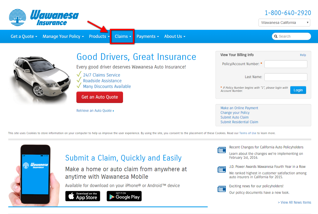 car insurance dropped after claim wawanesa auto insurance login make a payment 21893 | Wawanesa Auto Insurance Claims Step 1