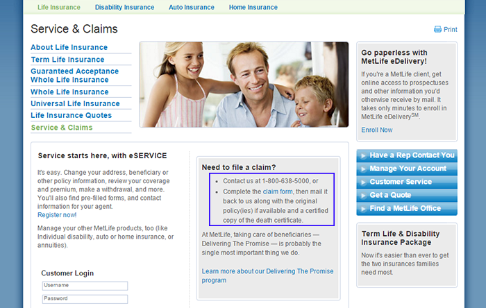 Metlife Life Insurance Customer Login - clips-khrime